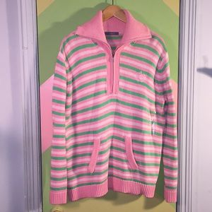 Liz Claiborne pink and green sweater Large